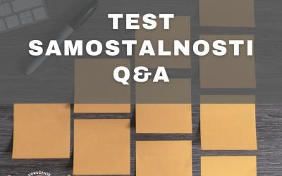 Тест самосталности: 1 Q&A